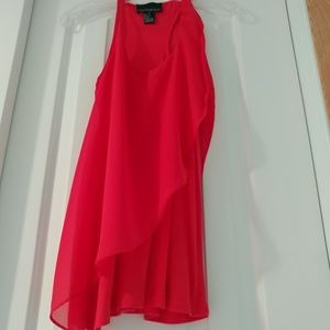 Cynthia Rowley chiffon red top-XS